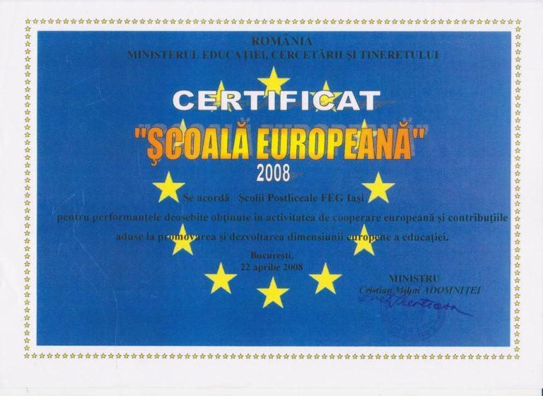 Scoala Postliceala FEG Scoala europeana 2008