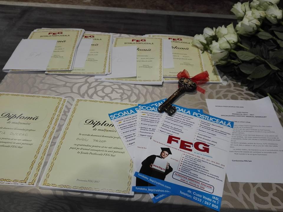 Scoala Postliceala FEG Festivitate incheiere anului scolar
